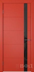 Дверь Тривиа ПО эмаль красная