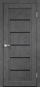 Дверь NEXT-1 (лакобель чёрный) муар тёмно-серый